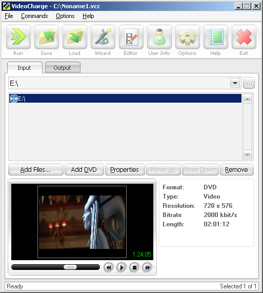 Easy tool for split, join and convert video files, make snapshots, add watermark Screen Shot